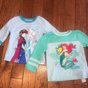 Girls 4t Disney t-shirt bundle